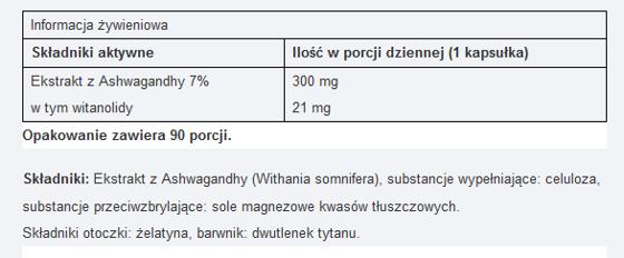 Ashwagandha 7 % extract 90 caps