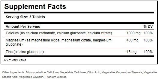Calcium Magnesium Plus Zinc 100 caps