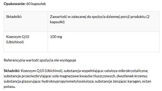 Coenzyme Q10 Ubichinol 60 caps