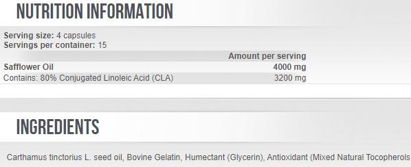 Conjugated Linoleic Acid CLA 800mg 60 caps