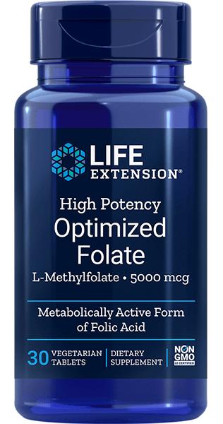 High Potency Optimized Folate 5000mcg 30 caps