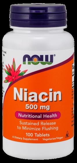 Niacin minimize flushing 500 mg 100 caps