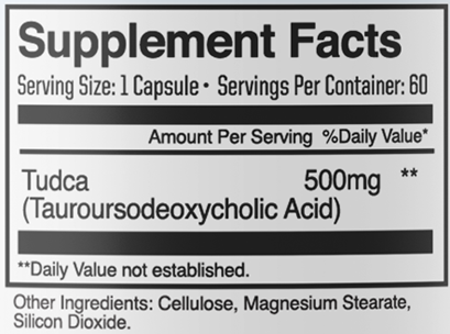 TUDCA Liver and Nerve Support 500mg 60 caps