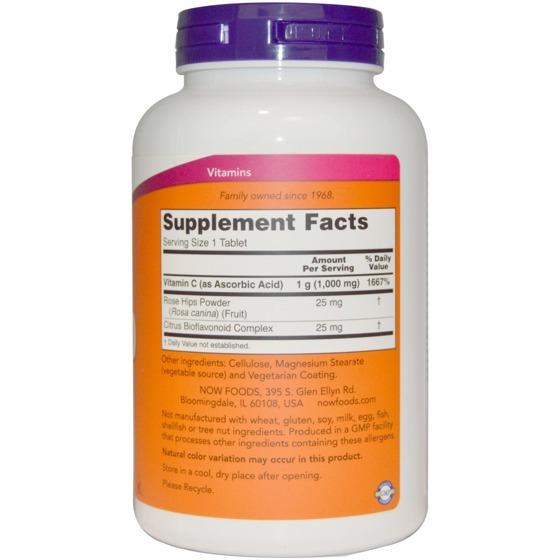 Vitamin C-1000 With Rose Hips & Bioflavonoids 250 caps