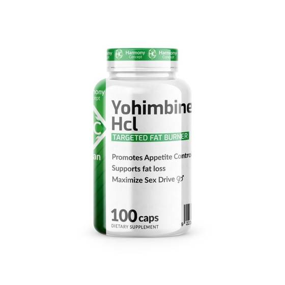Yohimbine HCL 100 caps