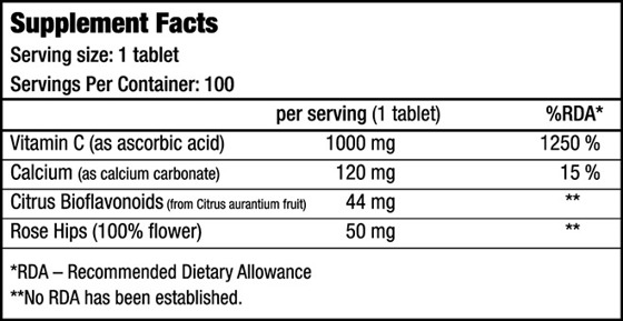 BioTechUSA Vitamin C-1000 100 caps