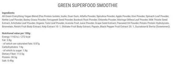 Green Superfood Smoothie 200g