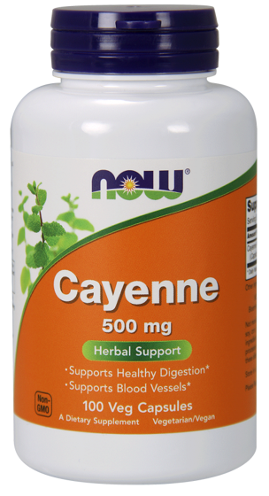 NowFoods Cayenne 500mg 100 caps