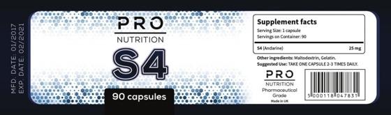 Pro Nutrition S4 90 caps